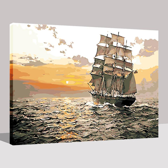Sailing Boat Voyage - DIY Painting by Numbers Kit