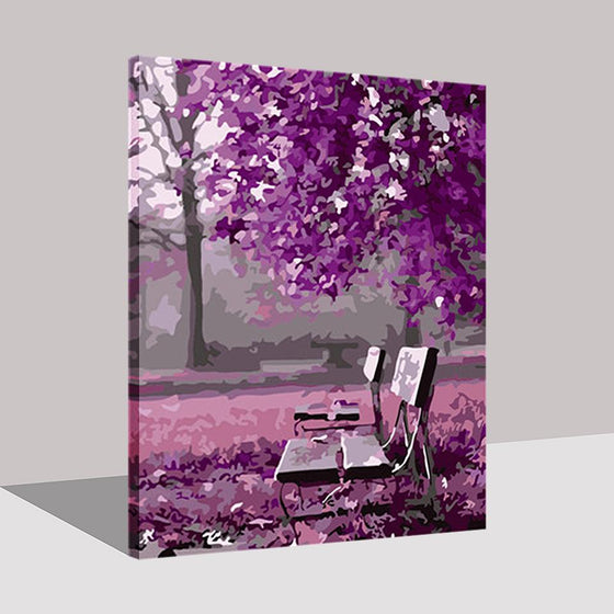 Purple Park - DIY Painting by Numbers Kit
