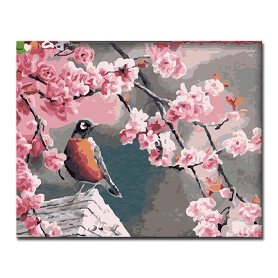 Spring Magpie - DIY Painting by Numbers Kit