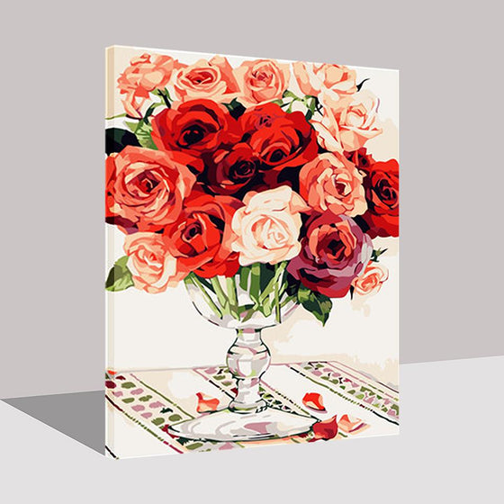 Roses Monogatari - DIY Painting by Numbers Kit