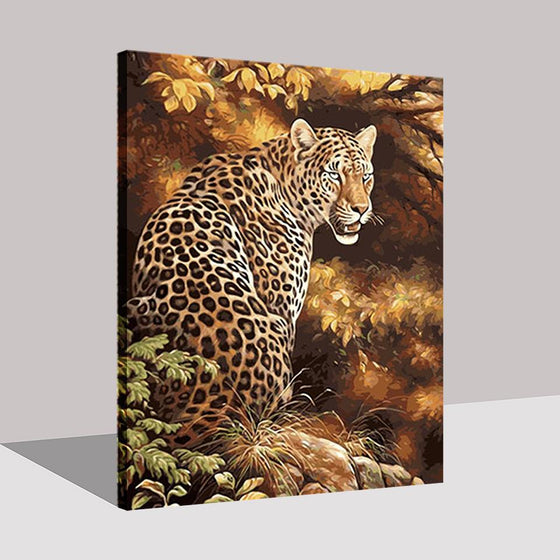 Strong Leopard - DIY Painting by Numbers Kit