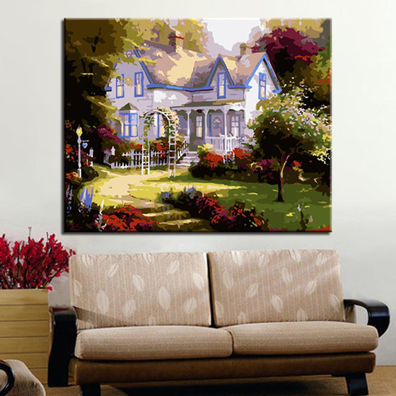 European Style Cottage Garden - DIY Painting by Numbers Kit