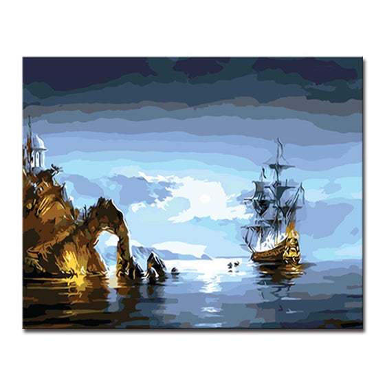 Digital Sea Spectacle - DIY Painting by Numbers Kit