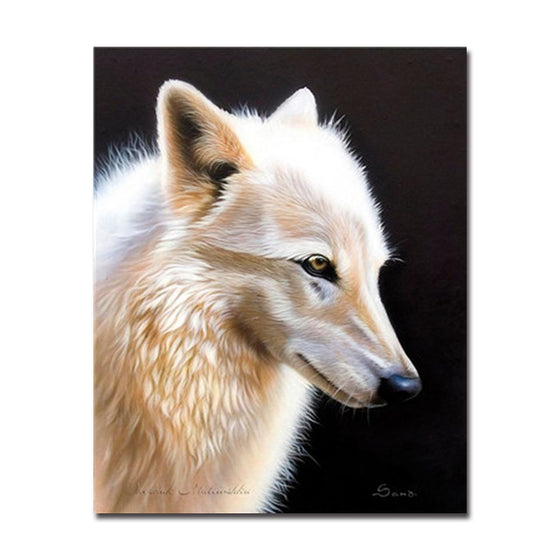 Unique Patterned Wolf - DIY Painting by Numbers Kit