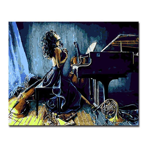 Indulge In Music World Woman - DIY Painting by Numbers Kit