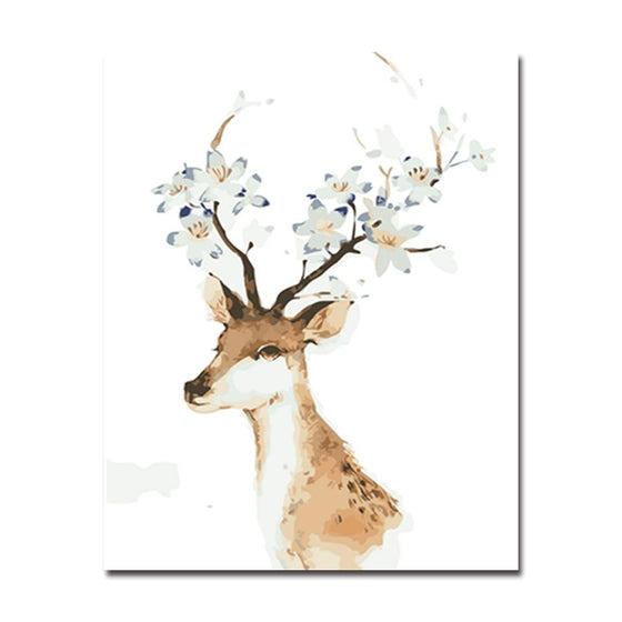 Plum Blossoms Deer - DIY Painting by Numbers Kit