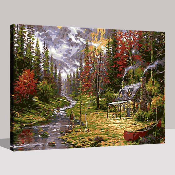 Forest House - DIY Painting by Numbers Kit
