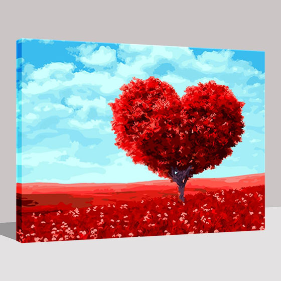 Romantic Heart Tree - DIY Painting by Numbers Kit