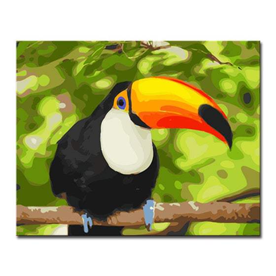 Glamorous Toucan - DIY Painting by Numbers Kit