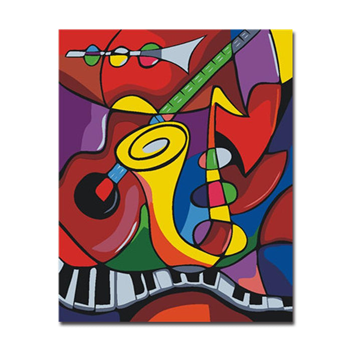Abstract Music World - DIY Painting by Numbers Kit