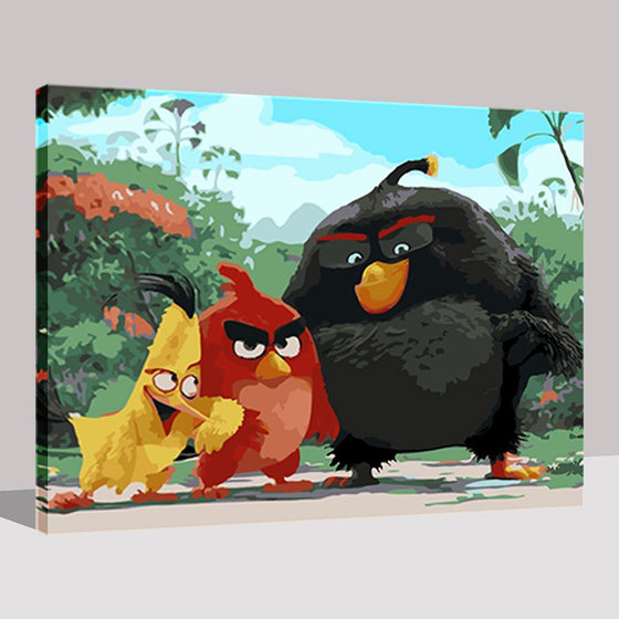 The Angry Birds - DIY Painting by Numbers Kit