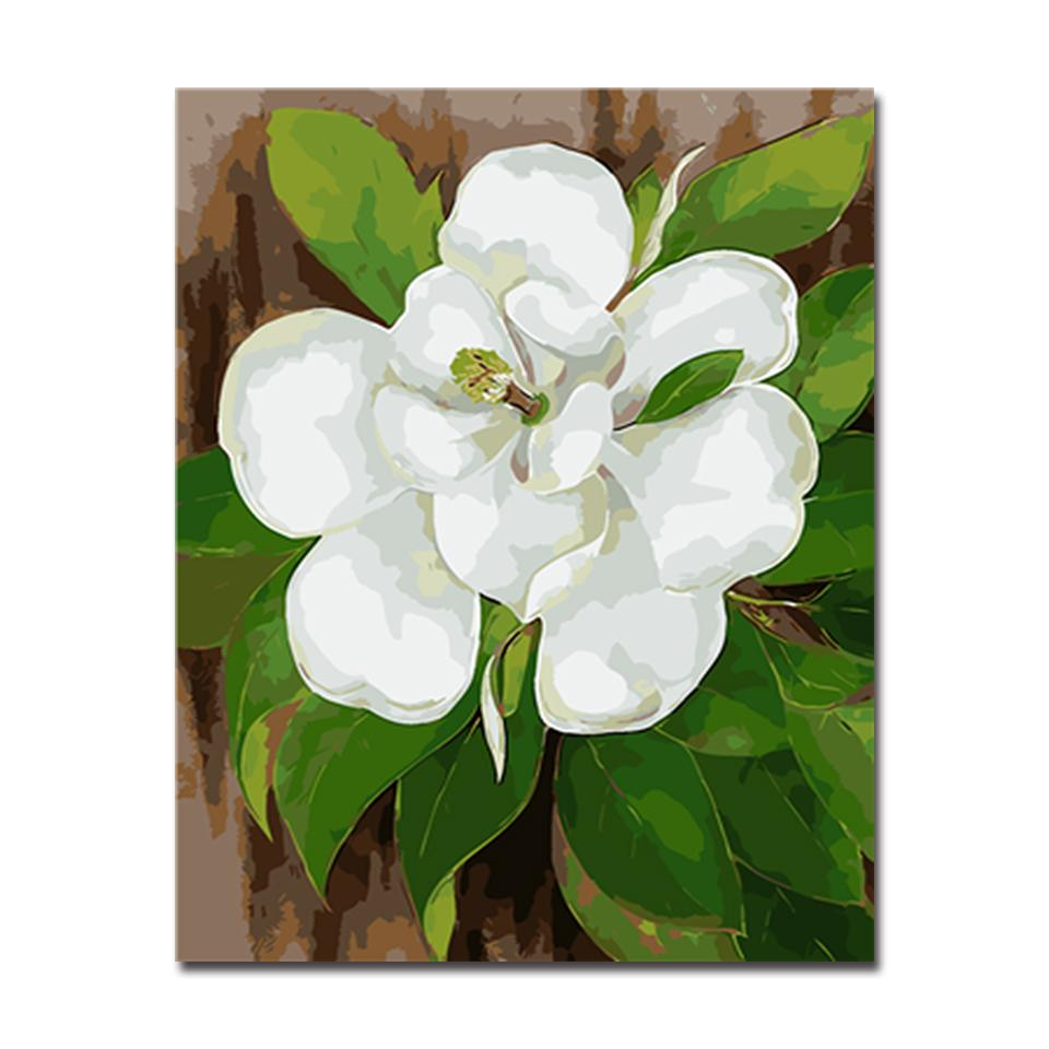White camellia flower diy painting by numbers kit canvasx white camellia flower diy painting by numbers kit mightylinksfo