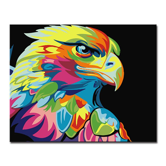 Colorful Abstract Eagle - DIY Painting by Numbers Kit