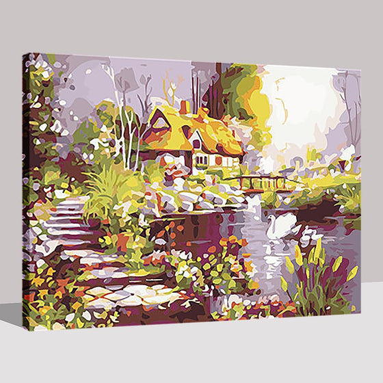 Dreamy Hut - DIY Painting by Numbers Kit