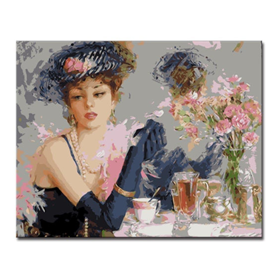 Charming Retro Fashion Lady - DIY Painting by Numbers Kit