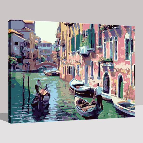Venice Water Town - DIY Painting by Numbers Kit