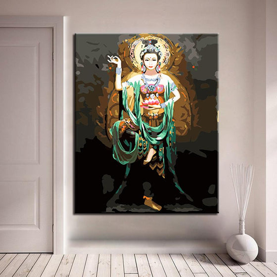Dunhuang Feitian Buddha - DIY Painting by Numbers Kit