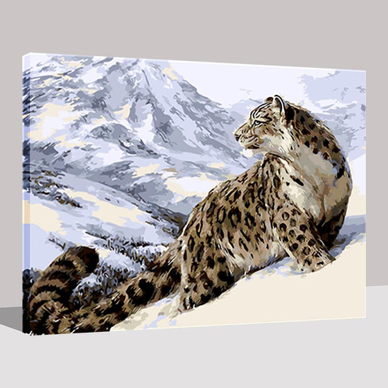 Winter Snow Leopard - DIY Painting by Numbers Kit