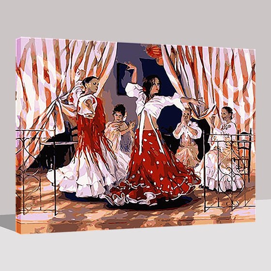 Spanish Dance Girl - DIY Painting by Numbers Kit
