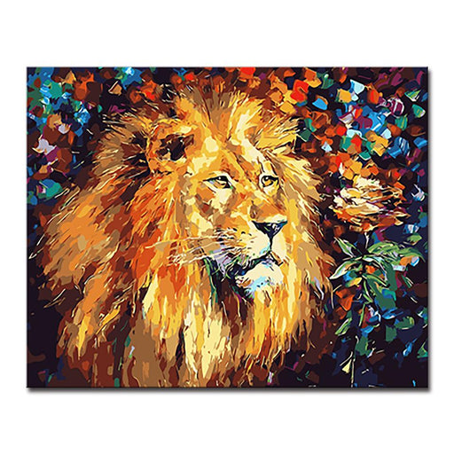 The King Lion - DIY Painting by Numbers Kit