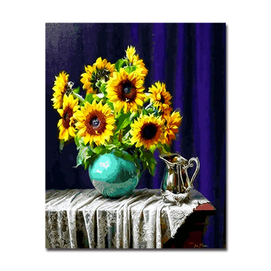 Still Life Sunflower Bouquet - DIY Painting by Numbers Kit
