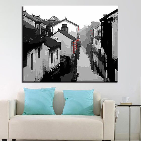 Chinese Ancient Town - DIY Painting by Numbers Kit