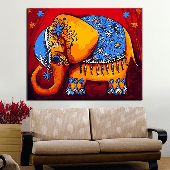 Elephant In India - DIY Painting by Numbers Kit