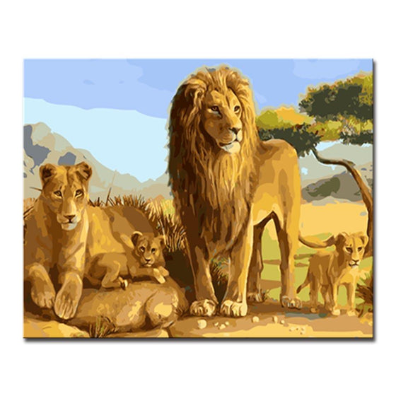 Beautiful Lions Portrait - DIY Painting by Numbers Kit