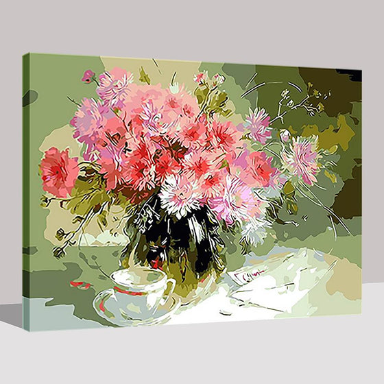 Pink Daisies - DIY Painting by Numbers Kit