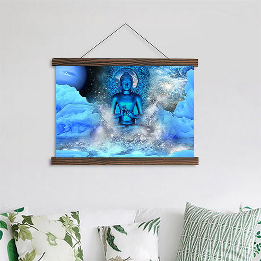 Blue Buddha - Canvas Scroll Wall Art