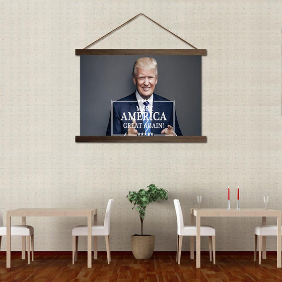Donald Trump Label - Canvas Scroll Wall Art Decor