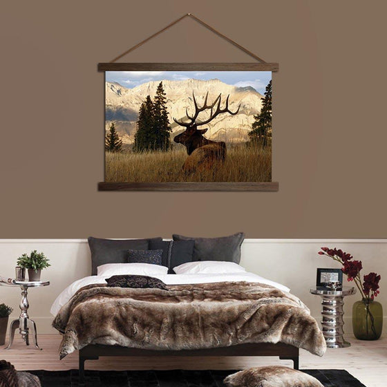Deer in a Forest - Canvas Scroll Wall Art Bedroom