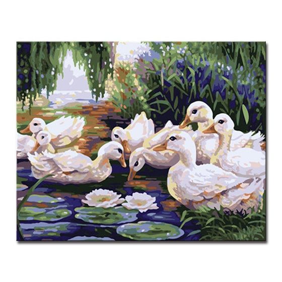 Duck River - DIY Painting by Numbers Kit