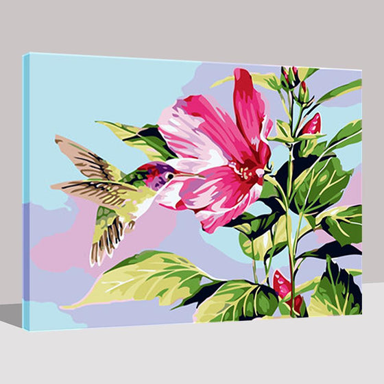 Hummingbird Getting Nectar - DIY Painting by Numbers Kit