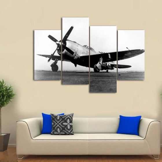 Vintage Aircraft Canvas Wall Art