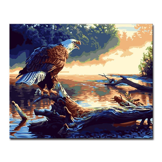 Proud Eagle - DIY Painting by Numbers Kit