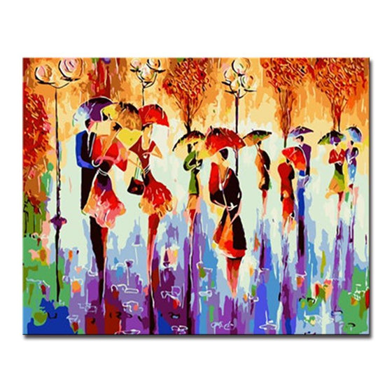 Abstract Dancing Couple - DIY Painting by Numbers Kit