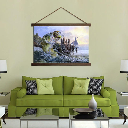 Huge Fish - Canvas Scroll Wall Art