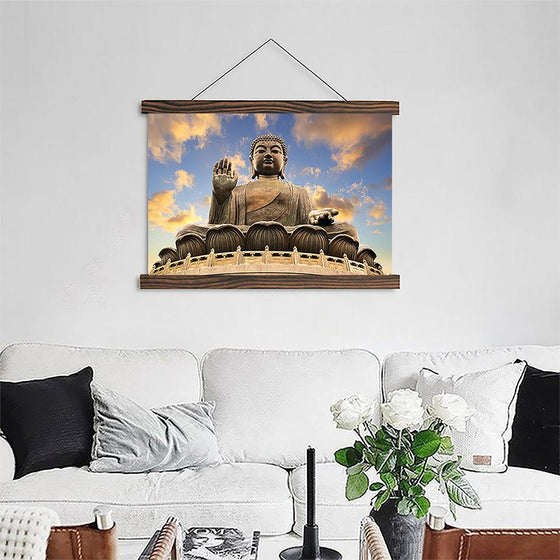 Sunset Sky Buddha - Canvas Scroll Wall Art