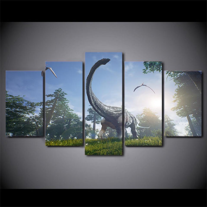 Dinosaurs In The Forest Canvas Wall Art — canvasx.net