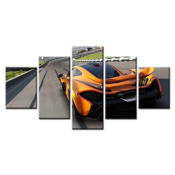 Forza Motorsport Orange Car Canvas Wall Art