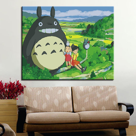 Big Totoro & Kids - DIY Painting by Numbers Kit