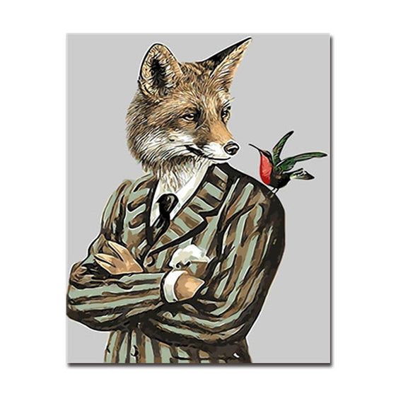 Skylark The Gentleman Fox - DIY Painting by Numbers Kit
