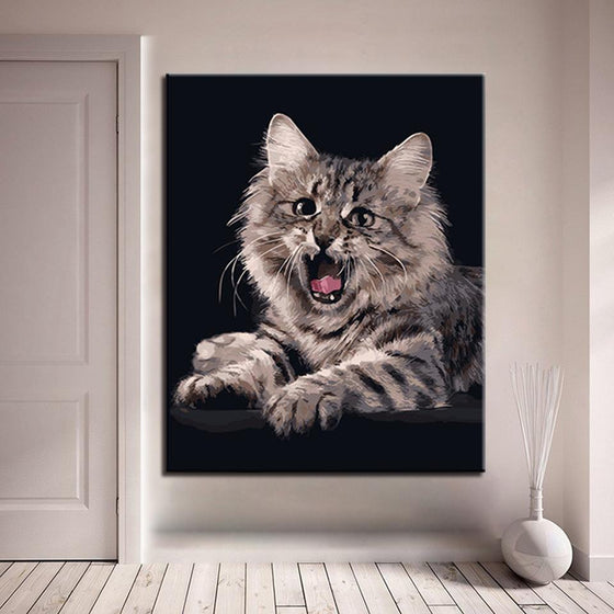Roaring Cat - DIY Painting by Numbers Kit