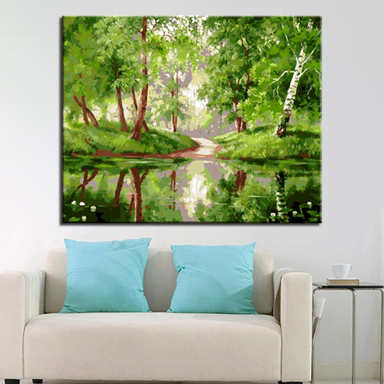 Quiet Morning Woods Streams - DIY Painting by Numbers Kit