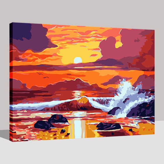 Seasky Seascape - DIY Painting by Numbers Kit