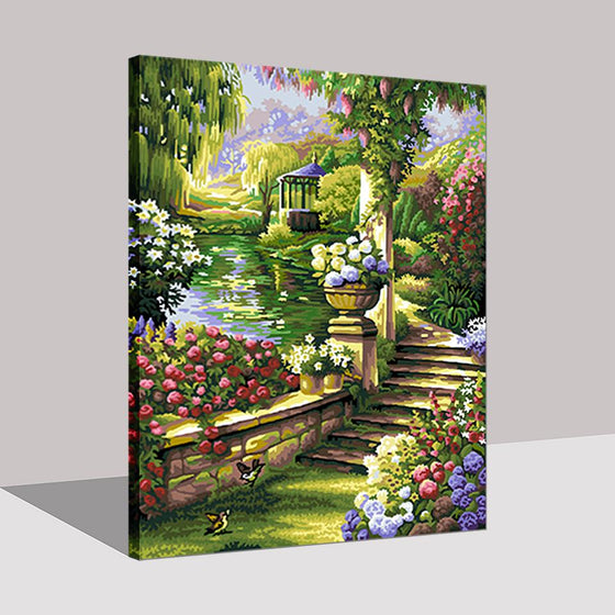 Flower Dike Scenery - DIY Painting by Numbers Kit