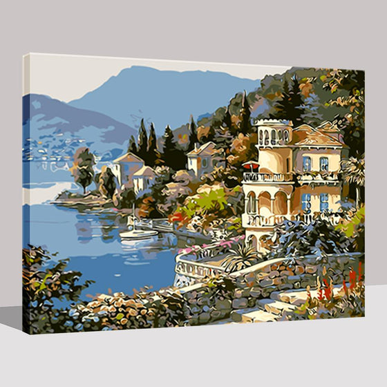 Lake Side Castle - DIY Painting by Numbers Kit