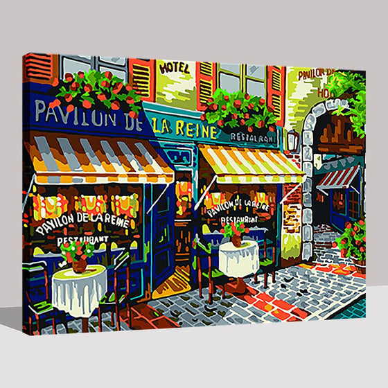 Paris Street Stores - DIY Painting by Numbers Kit