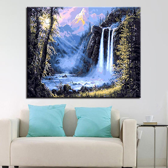 Mystic Falls Landscape - DIY Painting by Numbers Kit